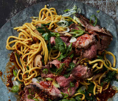 Beef and shiitake noodles 404 x 346